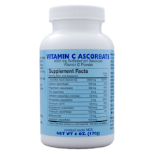 Vitamin C Ascorbate Powder - 6oz